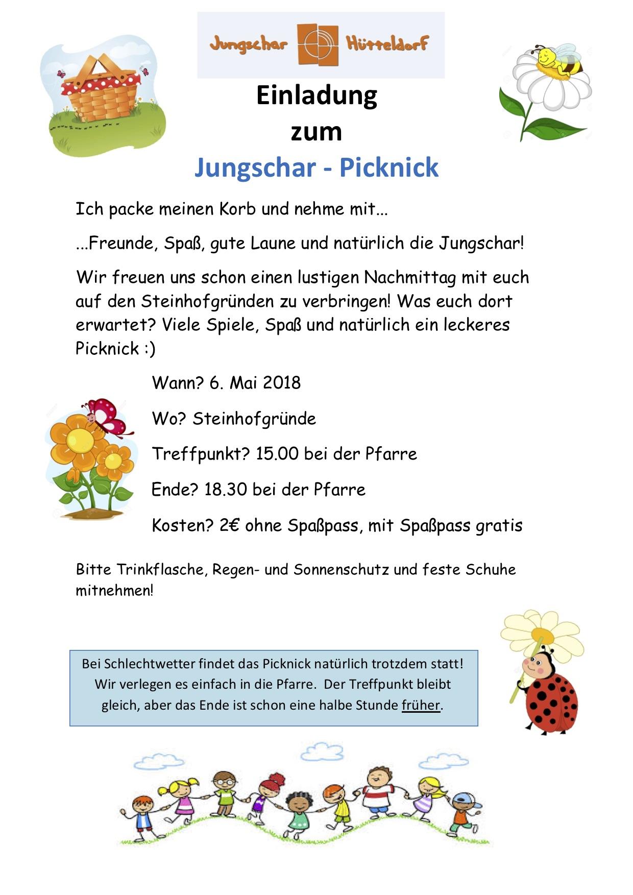 Einladung zum JS-Picknick 2018